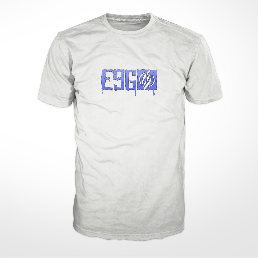e9g melted logo t-shirt white