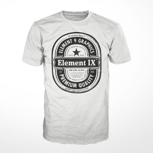 E9G Beer Label Tshirt White