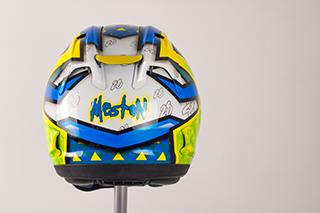 Euan Meston Custom Painted Arai RX7 rick morty