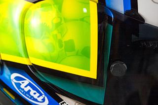 Euan Meston Custom Painted Arai RX7 details