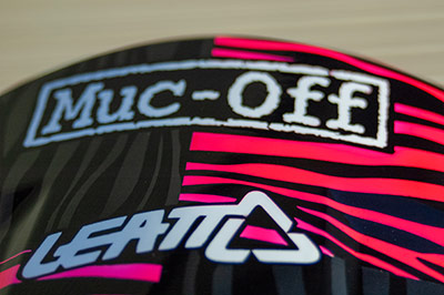 Muc-Off custom painted mtb helmet uk