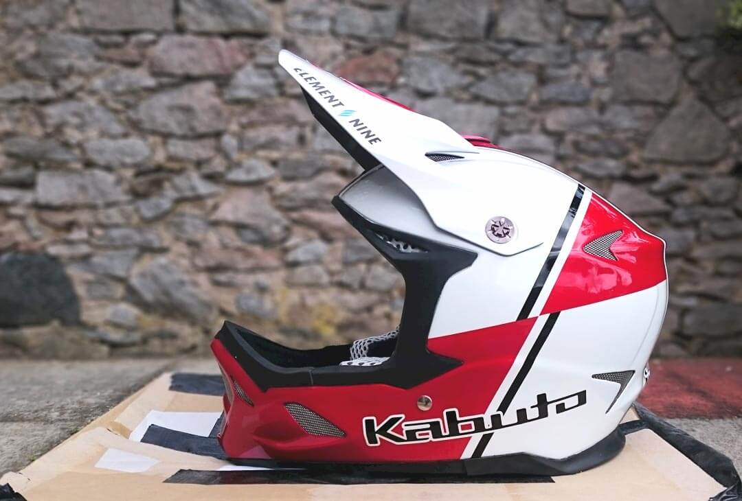 Sam Herd Custom Painted Kabuto Downhill Mountain Bike Helmet