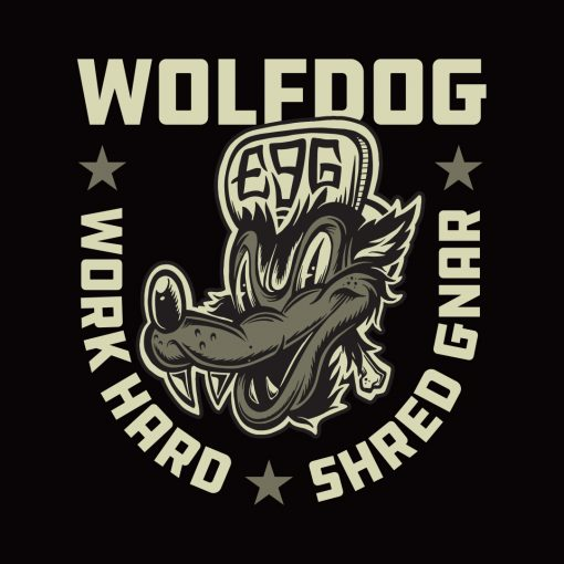 Wolf Dog T-shirt Design