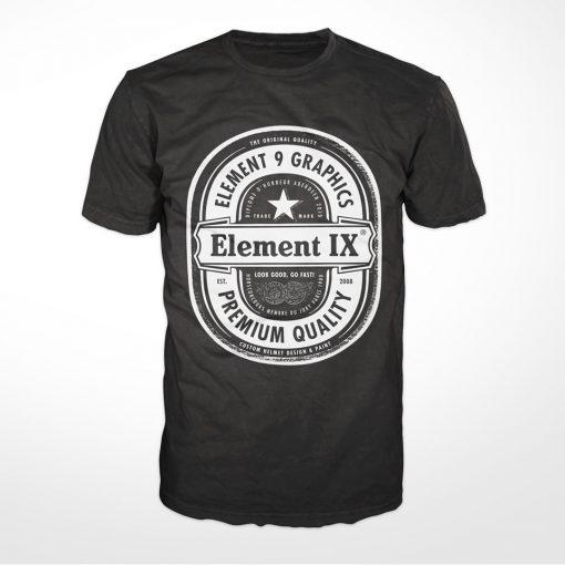 e9g beer label t-shirt black