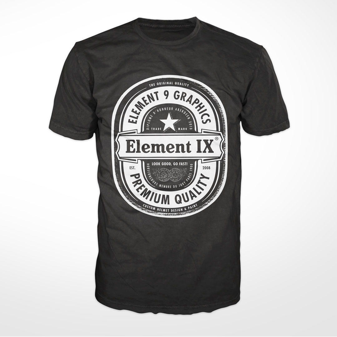 e9g beer label t-shirt black