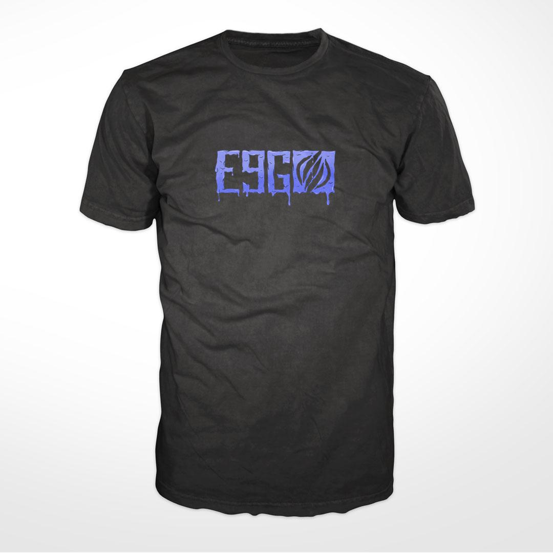 e9g melted logo t-shirt black