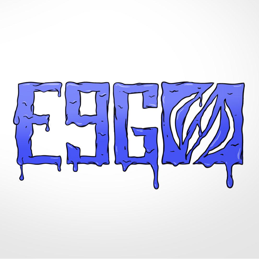 melted logo detail