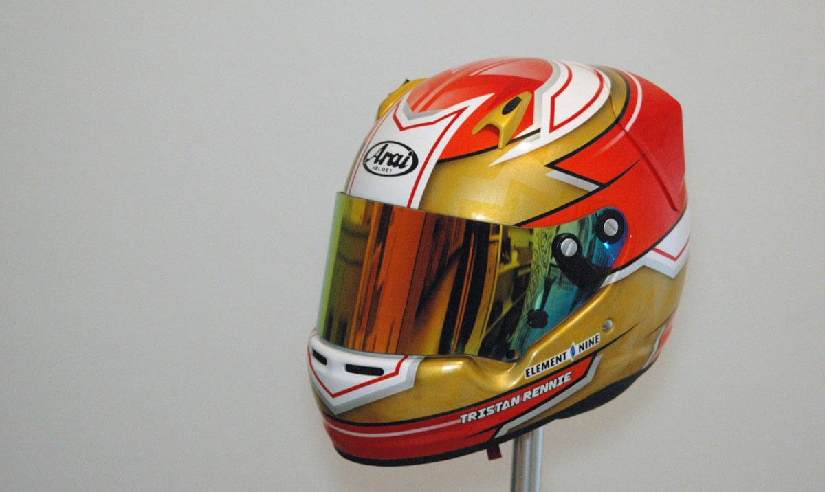 Arai CK-6 custom painted karting helmet