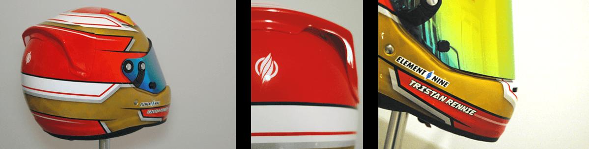 Arai CK-6 custom painted karting helmet