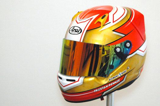 custom helmet paint in the uk motorsport