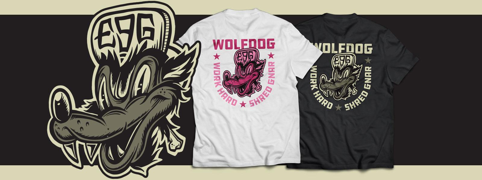 Wolf Dog Tee Banner